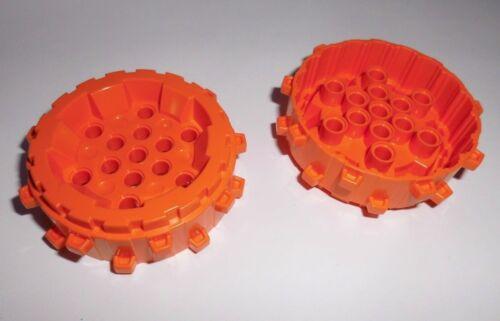 Lego 64711 in orange aus 76013 8961 8960 8964 2 Hartplastik Räder/Stollenrad