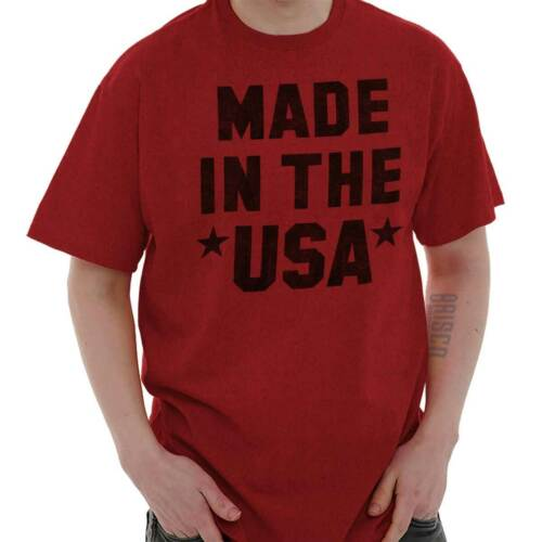 Made In USA America Patriotic Political Gift Short Sleeve T-Shirt Tees Tshirts