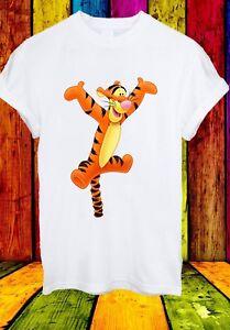 Tigro-Tigre-la-casa-sul-POOH-angolo-Divertente-Cartoon-Uomini-Donne-Unisex-T-shirt-837