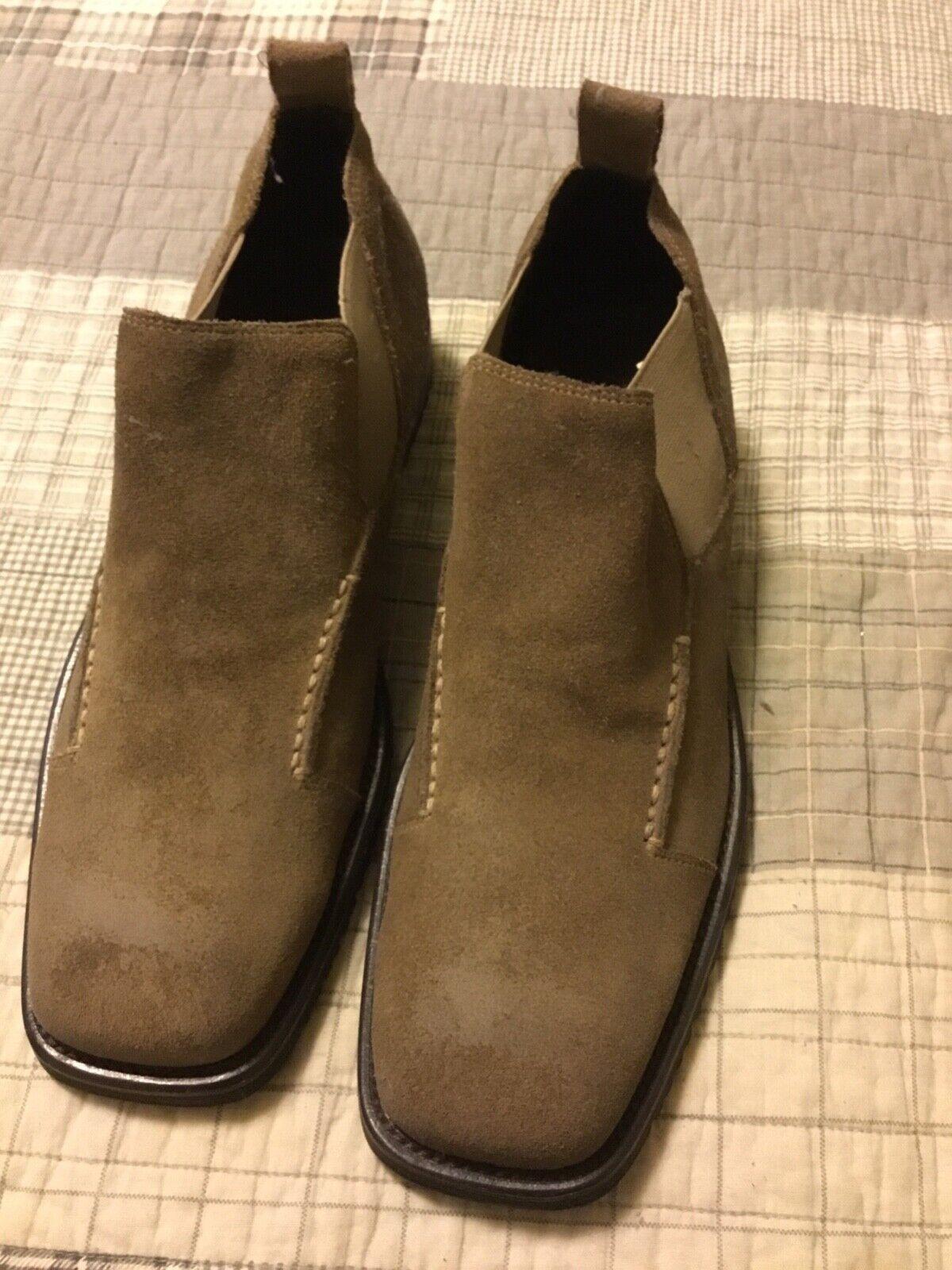 Aston Grey Men's ankle boot suede light olive color size 9.5