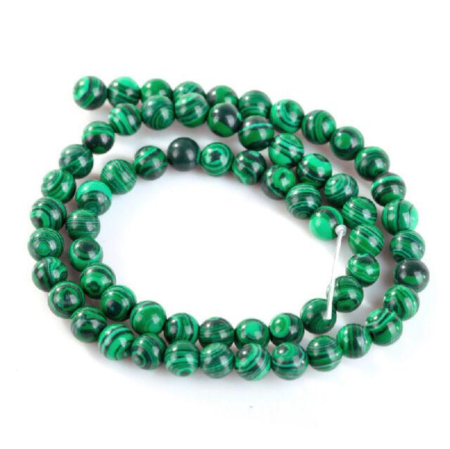 15.5'' Strand Malachite Gemstone Round Loose Spacer Beads Various Sizes U Pick