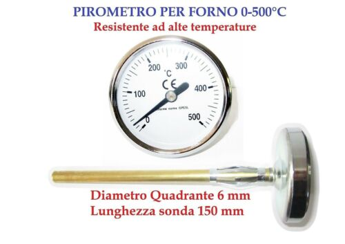 OVEN PYROMETER// THERMOMETRE FOR OVENS BIMETALLIC PROBE LENGTH15,6CM PROFESSIONAL