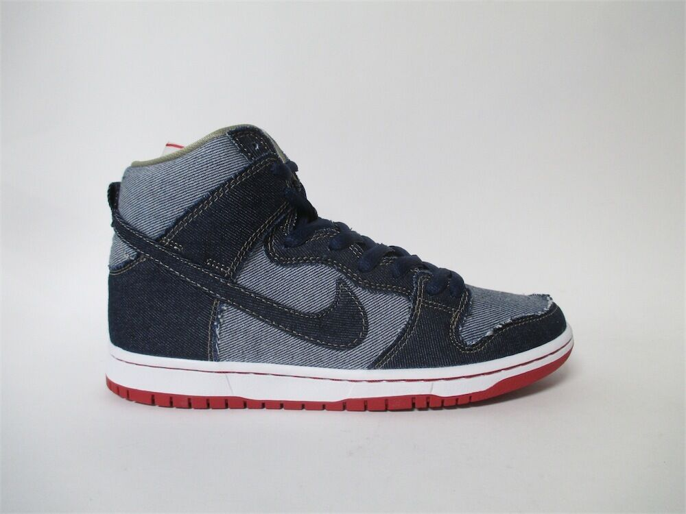 Nike SB Dunk High Denim Reese Forbes Navy Red White Sz 8 881758-441 best-selling model of the brand