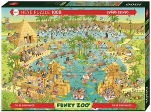 MARINO DEGANO - FUNKY ZOO: NILE HABITAT - Heye Puzzle 29693 - 1000 Teile Pcs.