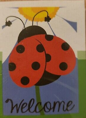 Outdoor Small Garden Flag Ladybug Free Bonus Sanitizer With Every