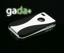 Hülle f Apple iPhone 4S 4 4G Case Tasche Cover Schutzhülle Schale Bumper schwarz