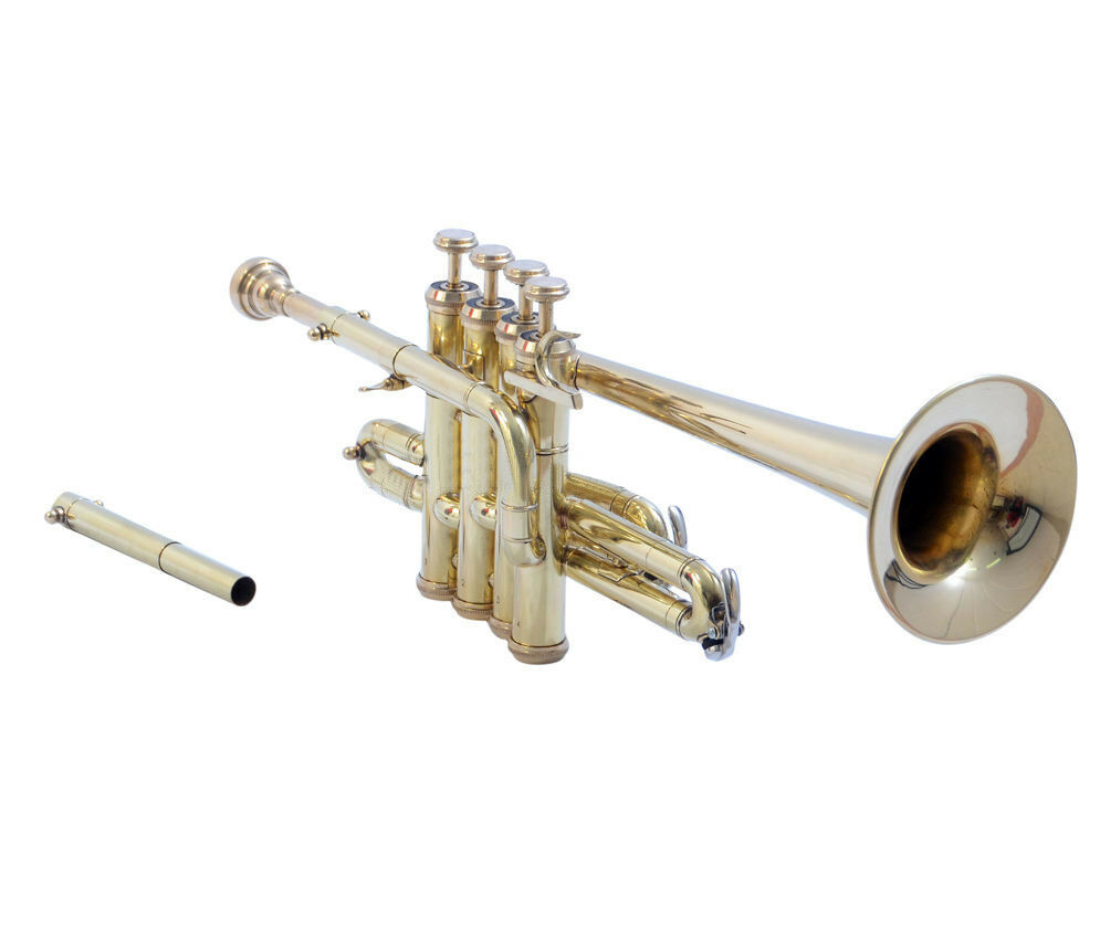 SHREYAS  AZ051 Piccolo Trumpet Brass and Nickel Finish Bb A Pitch With Case + MP