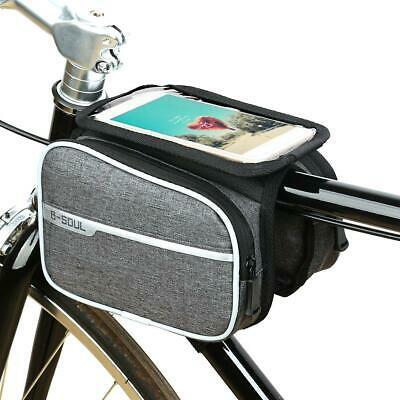 Cycling Bicycle Bike Top Frame Front Pannier Saddle Tube Bag Double Pouch Holder