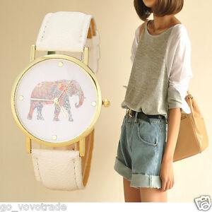 Fashion-Women-Elephant-Printing-Pattern-Weaved-Leather-Quartz-Dial-Wrist-Watch