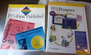 Rare-Spinnaker-PFS-First-Publisher-Deluxe-Paint-Prospect-PC-Software-DOS-Windows