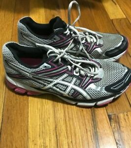 Asics-GT-1000-Womens-Running-Shoes-Sneakers-Gray-Pink-Size-10-5-T2L6N