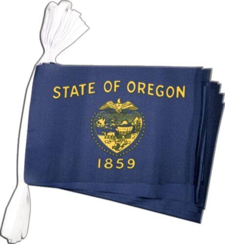 Fahnenkette Flaggenkette Girlande USA Oregon Fahnen Flaggen 15x22cm