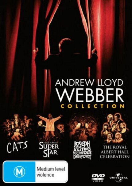 Andrew Lloyd Webber Collection DVD NEW CATS+JESUS CHRIST+JOSEPH+ROYAL ALBERT R4