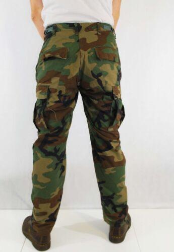 VTG Khaki Green Cargo Combat Trousers Camo Trousers Camo Pants 28 30 32 34 36 38
