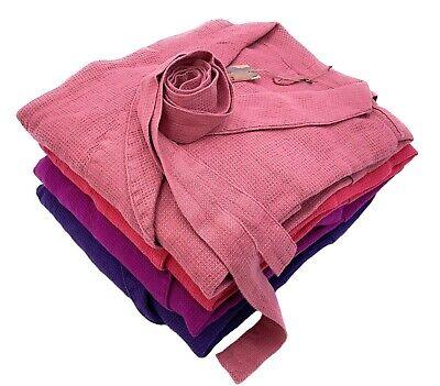 """Mettere In Guardia Waffelpique Balneazione Cappotto Vestaglia L/xl Lino """"stonewashed"""", Antique Pink-mostra Il Titolo Originale"""