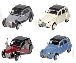 Welly-voiture-miniature-CITROEN-2cv-6-Charleston-034-Ente-034-bleu-blanc-gris-rouge-M-1-24