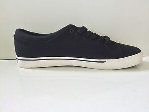 d14ca0896 Image is loading New-Tommy-Hilfiger-Richmond-Men-Black-Canvas-Sneaker-