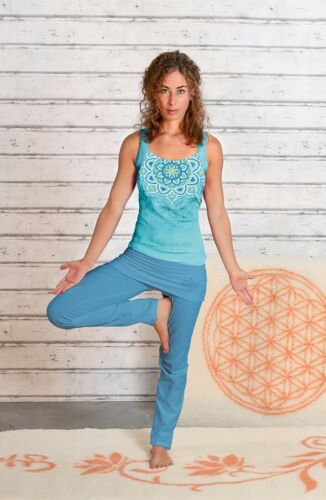 Yoga-Top Chakra tropical blue The Spirit of OM
