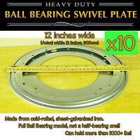 10 Pcs - 12 Inch (305mm) - Full Ball Bearing Swivel Plate Lazy Susan Turntable