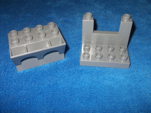 Lego Duplo Ritterburg 2 X Zinnen Zinn aus 4777 4776 4779 4785 Dunkel Grau Wow