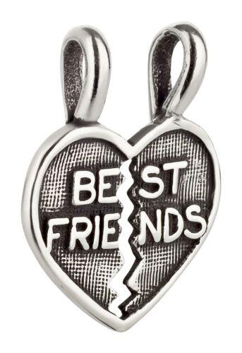 Charm//remolque Best Friends corazón de 925 Sterling plata