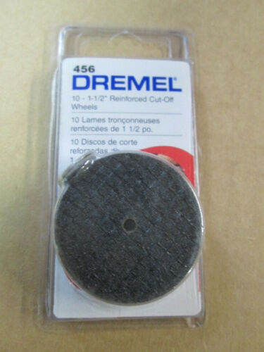 """DREMEL 456 1-1//2/"""" CUT OFF WHEELS NEW IN RETAIL PACK 10 PACK"""