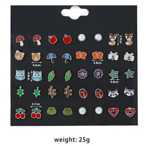 20Pairs-set-Cute-Fruit-Animal-Flower-Stud-Earrings-For-Girls-Kids-Jewelry-Gi-WW