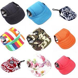 Canvas-Summer-Small-Pet-Dog-Cat-Baseball-Visor-Hat-Puppy-Cap-Outdoor-Sunbonnet