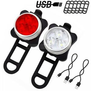 USB Bike Tail Light Lamp Cycling Bicycle Rechargeable Warning Multipurpose Rear