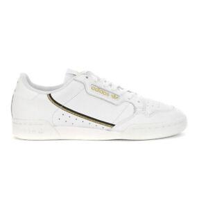 Adidas Men's Continental 80 Cloud White/Core Black/Gold Shoes EG5663 NEW