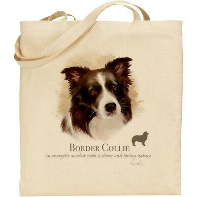 I Love Collies Cotton Tote Bag