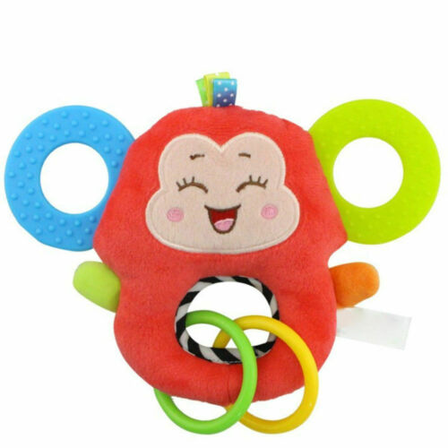 New born Baby Infant Animal Soft Rattles Teether Hanging Bell Plush Bebe Toys US