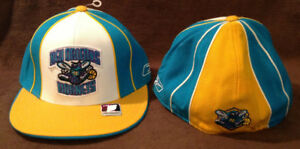 best sneakers e8e51 51af6 Details about New Orleans Hornets Throwback Reebok NBA Fitted Hat  Teal/Yellow/White Size 7 1/2