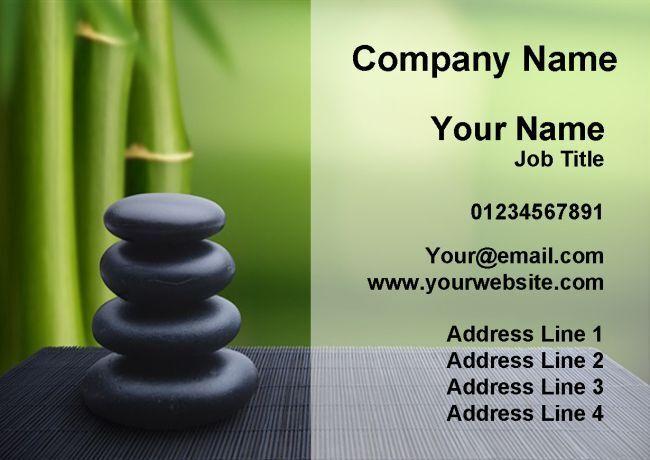 Beauty Salon Massage Treatment Spa Bamboo Personalised Business Cards