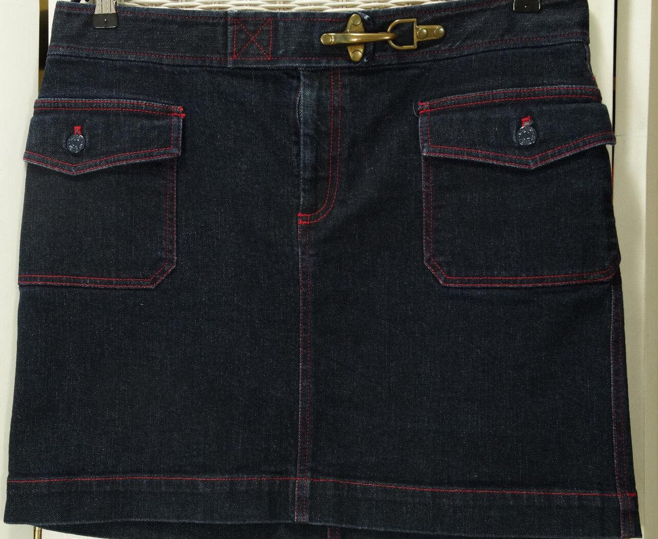 LAUREN JEANS CO. Denim Mini Skirt 37  Waist US14 Ralph Lauren Jeans Pencil Skirt