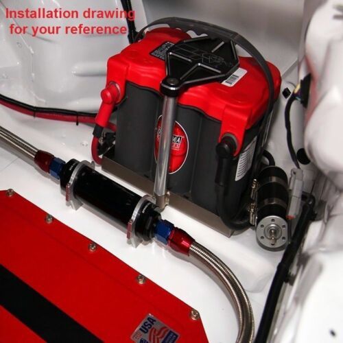 PURPLE Universal Racing 100 Micron AN6 Aluminum High Flow Fuel Inline Filter