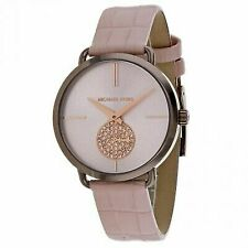 b7ed61c77bf2 Michael Kors Women s Portia 37mm Calfskin Band Steel Case Quartz Watch  MK2721