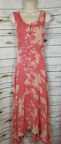 Sundance Savoir Faire Dress Coral Flowy Asymmetric