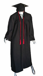 "GRADUATION GOWN AND CAP TASSELS 5""8 HEIGHT GOOD QUALITY ..."