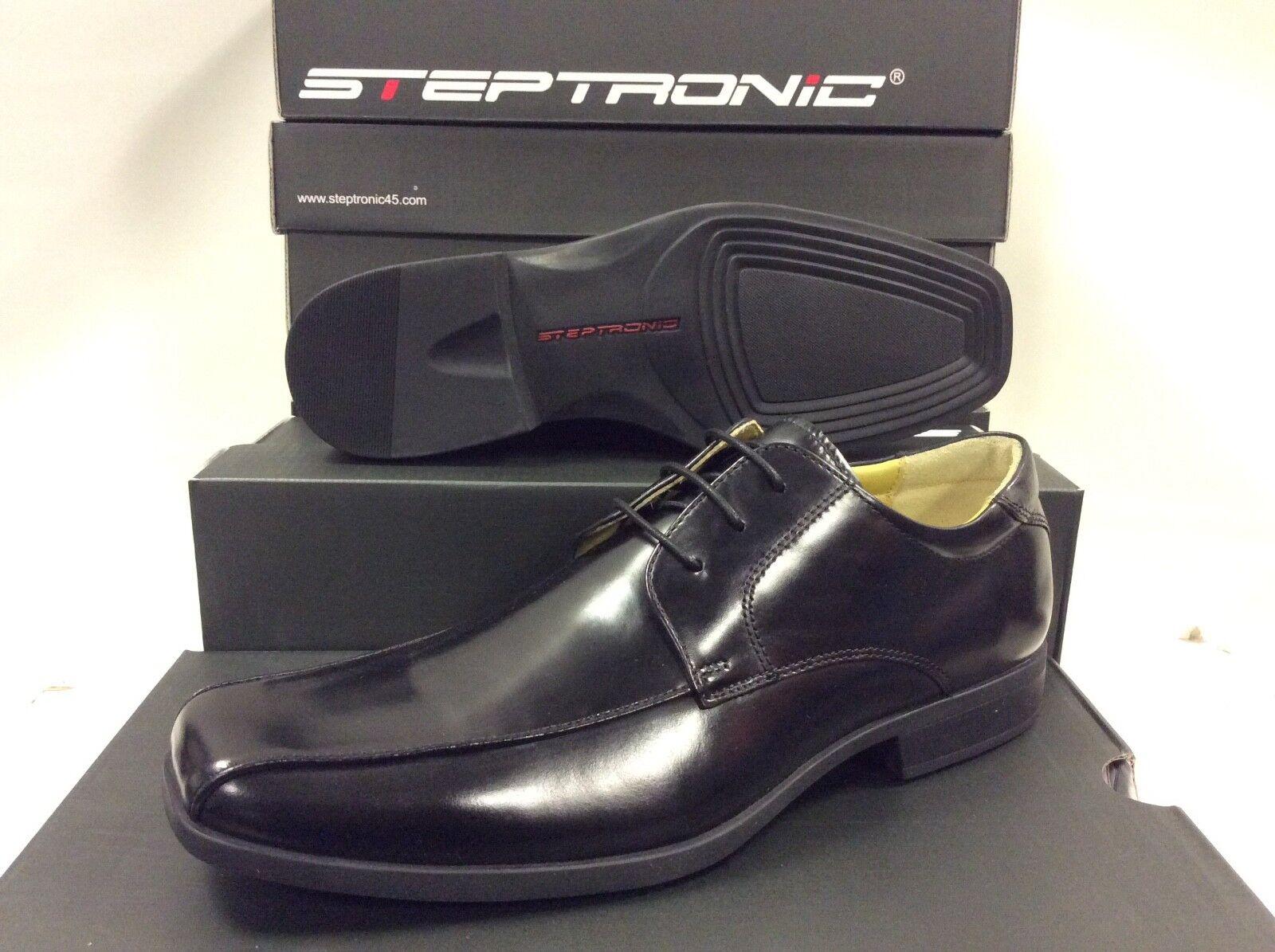 Zapatos De Cuero Steptronic wistow con Cordones Negro Encerado Para hombre, Tamaño  47 euros