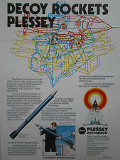 7/1981 PUB PLESSEY AEROSPACE BBC DECOY ROCKET SYSTEM ROYAL & CANADIAN NAVY  AD