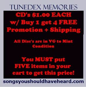 CLOSEOUT-VG-CD-039-s-1-00-each-Buy-1-get-4-FREE-5-CD-039-s-for-5-Shipping