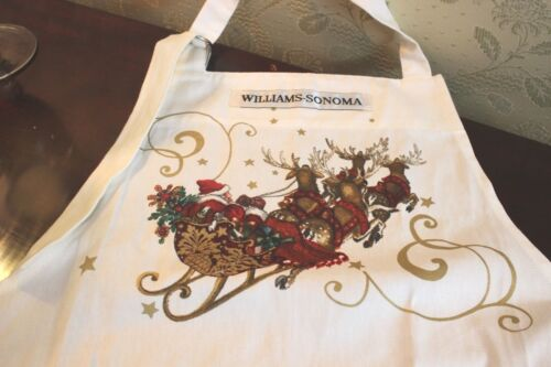 "NWT WilliamsSonoma ""Twas the Night Before Christmas"" Apron Childs Size"