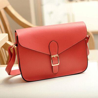 New fashion Womens PU Leather Crossbody Satchel Shoulder Messenger Bag Handbag