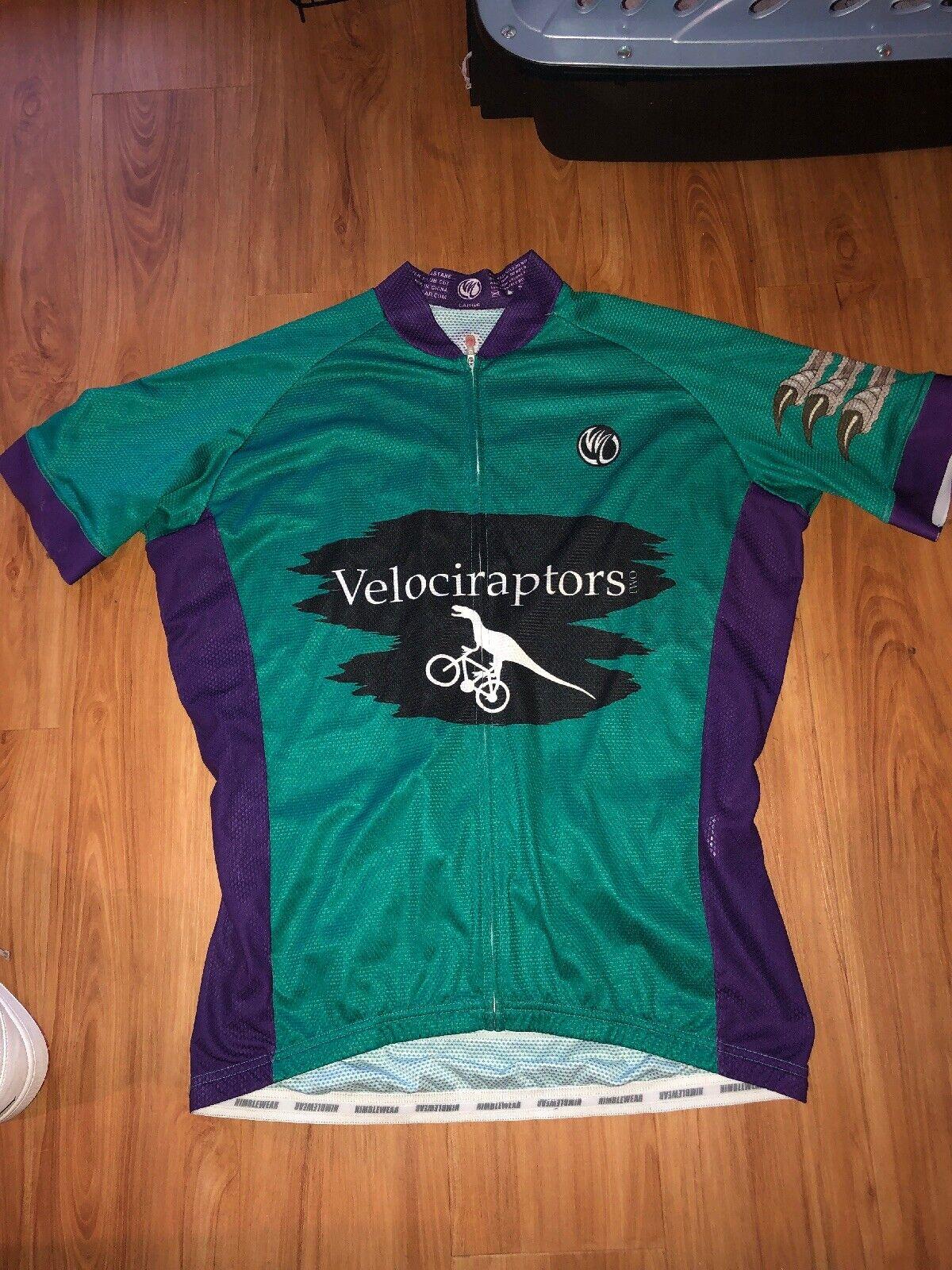 Velociraptors Mens Cycling Jersey Größe Large