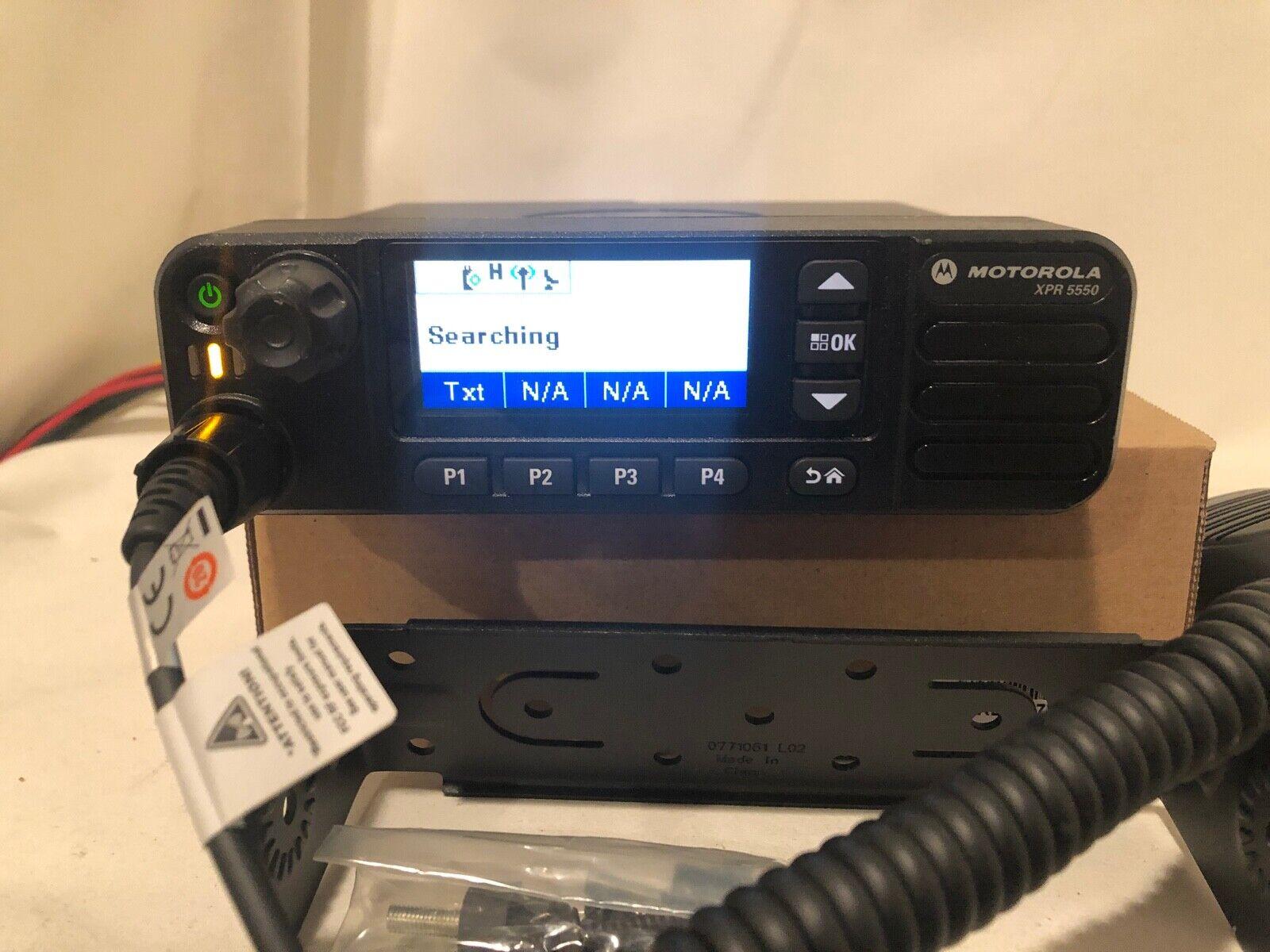 MOTOROLA XPR 5550 MOTOTRBO  AAM28QPN9KA1AN 403-470 40 WATT 1000 CH. Buy it now for 339.99