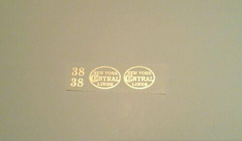 LIONEL PRE-WAR STANDARD SCALE 38 LOCO GOLD METALLIC WATERSLIDE DECAL ENGINE SET