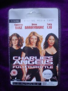 Charlie's Angels Rare Collectors Sealed MMC 128MB Digital Media Card  Movie Film