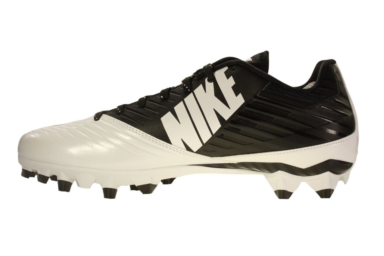 Men's Nike Vapor Speed Low TD Football Cleat Black White Black