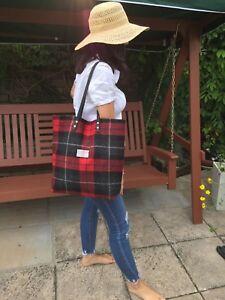 Harris regalo bolso Tweed grande rojo Tote esposa bolso de XqX1Arxw